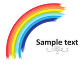 Moon Shape Rainbow Banner — Stock Vector