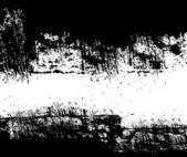 黒の汚れた壁のアート — ストックベクタ