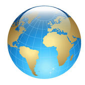 Acrylic Globe — Stock Vector