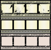 Retro Film Strips — Stock Vector
