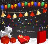 装饰圣诞背景与礼品包 — 图库矢量图片