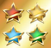 Złota gwiazda banery — Wektor stockowy