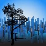 Modern City Background — Stock Vector