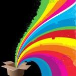 Box of Rainbow — Stock Vector