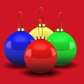 Luxuriöse bunt glänzend weihnachtskugel — Stockvektor