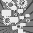 Royalty-Free Stock Imagen vectorial: Abstract Gear Wheels and Speech Bubbles