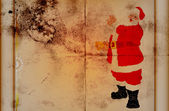 Santa rita på grunge bakplåtspapper — Stockfoto