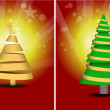Royalty-Free Stock Vector Image: Set of Different Style Christmas Tree