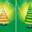 Different Style Christmas Tree Set — Stock Vector