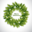 Royalty-Free Stock Vector Image: Decorative Green Christmas Wreath