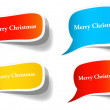 Paper Sticker Christmas Banners — Stock Vector