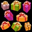 Stock Vector: Gift Box Collection
