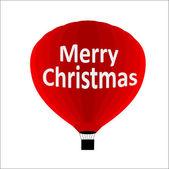 Merry Christmas Air Balloon — Stock Vector