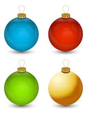 Colorful Christmas Bauble — Stock Vector