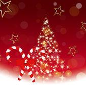 装飾的な輝きのクリスマス ツリー — ストックベクタ