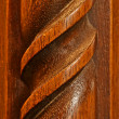 Hardwood Carving Background — Stock Photo