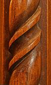 木製の彫刻の背景 — ストック写真