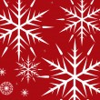 Royalty-Free Stock Vector Image: White Snowflakes on Red Background