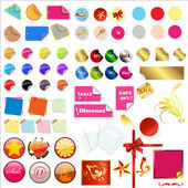 Colorful Vector Stickers and Elements — Stock Vector