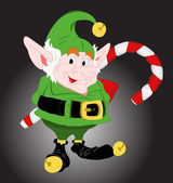 Cute Christmas Elf — Stock Vector