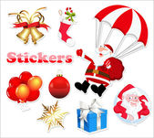 Christmas Stickers — Stock Vector