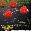 Royalty-Free Stock Vektorov obrzek: Red Glossy Christmas Ball Background