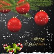 Royalty-Free Stock ベクターイメージ: Red Glossy Christmas Ball Background