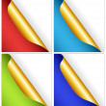conjunto de colorido papel rizado — Vector de stock