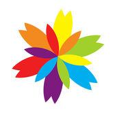 Kleurrijke vector bloem — Stockvector