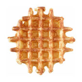 Belgian butter waffle, isolated — Stock Photo