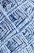 Textur auf halbfertigen ball strickt wolle — Stockfoto