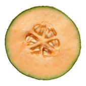 Cantaloupe melon, cross-section isolated — Stock Photo
