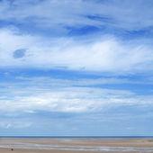 Wells-Next-The-Sea, Norforlk, UK, low tide — Stock Photo