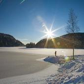 Lac gelé — Photo