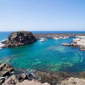 Fuerteventura, Canary islands, west coast,marina of El Cotillo — Stock Photo