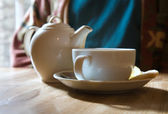 Tea in a cafe — Stock Photo