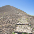 Stock Photo: Canary Islands, Isldo Lobos, path to top of extinct volvan