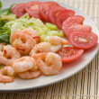 pan fried prawns with chilli — Stock Photo