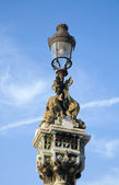 Old dragon lamppost in Padua, Italy, Veneto — Stock Photo