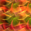 Stock Photo: Seamless repeatable fractal background in orange, yellow and red