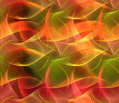 Seamless repeatable fractal background in orange, yellow and red — Stock Photo