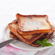 Easy dessert - french toast - arme ritter — Stock Photo