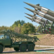 Antiaircraft rockets — Stock Photo