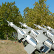 Stock Photo: Several combat missiles aimed at the sky