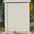 Grave stone - Stock Photo