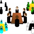Meeting icon - Stock Vector