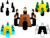 Meeting icon — Stock Vector