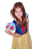 Nice little girl like a Snow White — Stock Photo