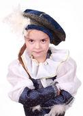 Kleines Mädchen als Prinz — Stockfoto
