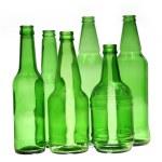 Green empty beer bottles — Stock Photo #7504408